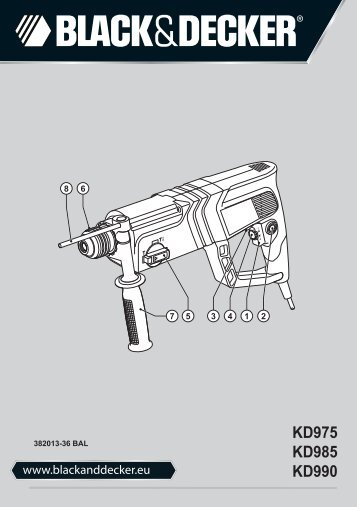 BlackandDecker Marteau Rotatif- Kd985 - Type 2 - Instruction Manual (Balkans)