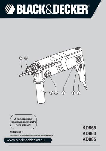 BlackandDecker Marteau Rotatif- Kd885 - Type 1 - Instruction Manual (la Hongrie)