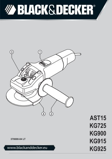 BlackandDecker Meuleuse Petit Diamètre- Ast15 - Type 3 - Instruction Manual (Lituanie)