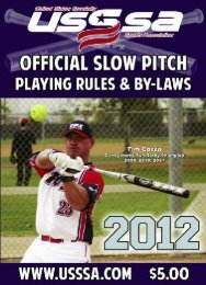 2012 USSSA Slow Pitch Rule Book and By - USSSA.com