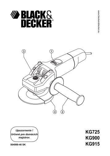 BlackandDecker Meuleuse- Kg915 - Type 1 - Instruction Manual (Slovaque)