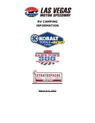 RV CAMPING INFORMATION - Las Vegas Motor Speedway