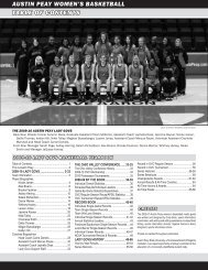 austin peay women's basketball table of contents - APSU Athletics