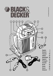 BlackandDecker Demarreur- Bdv012i - Type 1 - Instruction Manual (Européen)