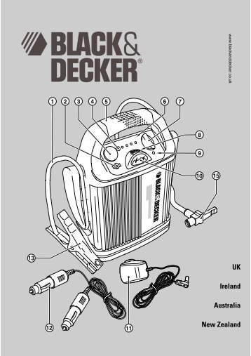 BlackandDecker Demarreur- Bdv012i - Type 1 - Instruction Manual (Anglaise)