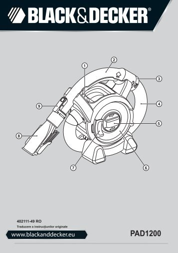 BlackandDecker Aspirateur Auto- Pad1200 - Type 1 - Instruction Manual (Roumanie)