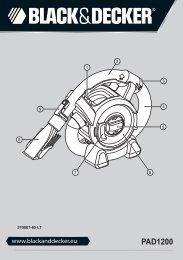 BlackandDecker Aspirateur Auto- Pad1200 - Type 1 - Instruction Manual (Lituanie)