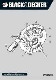 BlackandDecker Aspirateur Auto- Pad1200 - Type 1 - Instruction Manual (Européen Oriental)