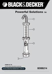 BlackandDecker Lampe De Poche- Bdbb214 - Type 1 - Instruction Manual (Turque)
