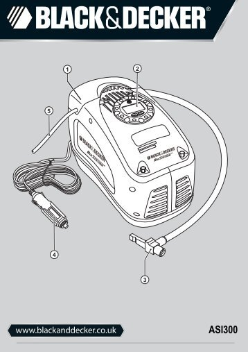 BlackandDecker Gonfleur- Asi300 - Type 4 - Instruction Manual (Anglaise)