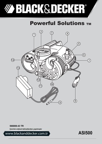 BlackandDecker Gonfleur- Asi500 - Type H1 - Instruction Manual (Turque)