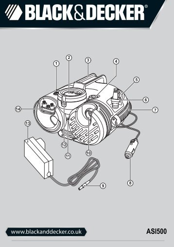 BlackandDecker Gonfleur- Asi500 - Type H2 - Instruction Manual (Anglaise)