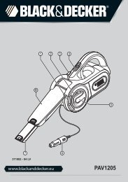 BlackandDecker Aspirateur Auto- Pav1205 - Type 1 - Instruction Manual (Lettonie)