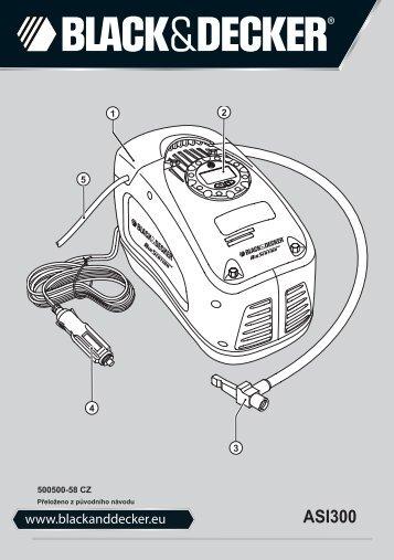 BlackandDecker Gonfleur- Asi300 - Type 3 - Instruction Manual (Tchèque)