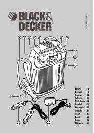 BlackandDecker Demarreur- Bdv012 - Type 1 - Instruction Manual (Européen)
