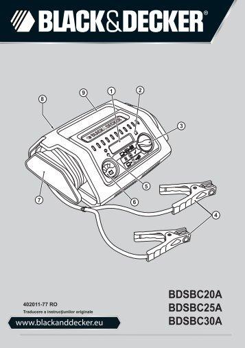 BlackandDecker Chargeur De Batterie- Bdsbc20a - Type 1 - Instruction Manual (Roumanie)