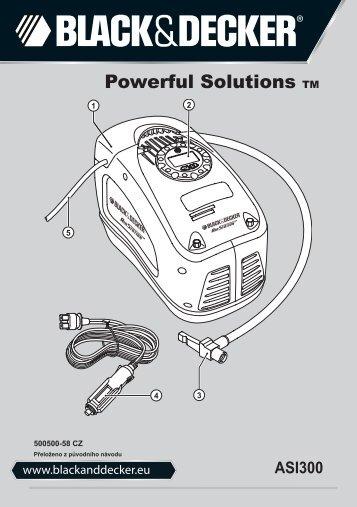 BlackandDecker Gonfleur- Asi300 - Type 2 - Instruction Manual (Tchèque)