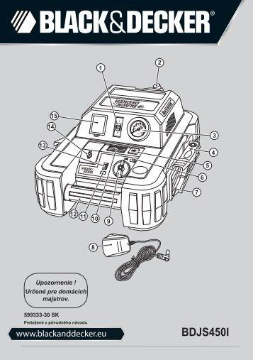 BlackandDecker Demarreur- Bdjs450i - Type 1 - Instruction Manual (Slovaque)