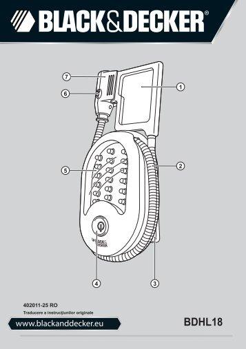 BlackandDecker Phare Auto- Bdhl18 - Type 1 - Instruction Manual (Roumanie)