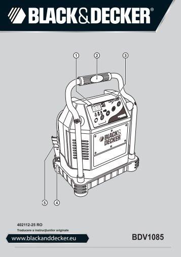 BlackandDecker Chargeur De Batterie- Bdv1085 - Type 1 - Instruction Manual (Roumanie)