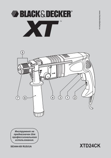 BlackandDecker Perceuse- Xtd24ck - Type 1 - Instruction Manual (Russie - Ukraine)