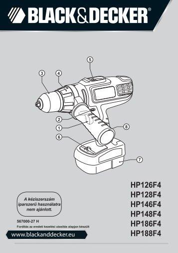 BlackandDecker Perceuse S/f- Hp186f4bk - Type H1 - Instruction Manual (la Hongrie)