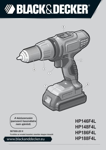 BlackandDecker Perceuse S/f- Hp148f4lbk - Type H3 - Instruction Manual (la Hongrie)