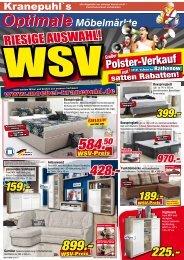 WSV! Riesige Auswahl! Großer Polster-Verkauf satten Rabatten!