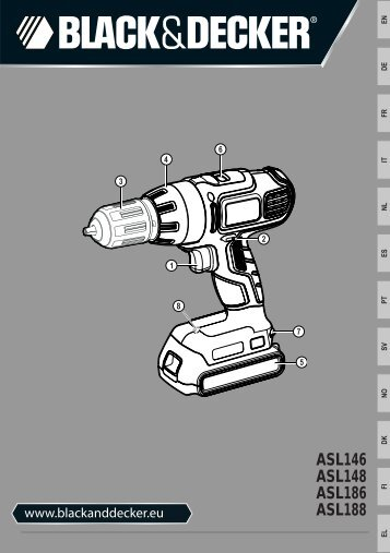 BlackandDecker Perceuse S/f- Asl148 - Type H1 - Instruction Manual (Européen)