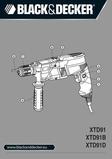BlackandDecker Marteau Perforateur- Xtd91k - Type 1 - Instruction Manual (Européen)