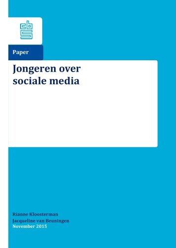 Jongeren over sociale media