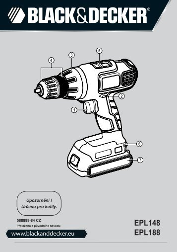 BlackandDecker Perceuse S/f- Epl188 - Type H1 - Instruction Manual (Tchèque)