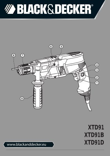 BlackandDecker Marteau Perforateur- Xtd91k - Type 2 - Instruction Manual (Européen)