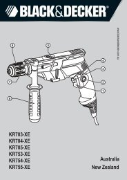 BlackandDecker Marteau Perforateur- Kr703 - Type 2 - Instruction Manual (Australie Nouvelle-Zélande)