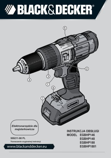 BlackandDecker Marteau Perforateur- Egbhp1881 - Type 1 - Instruction Manual (Pologne)