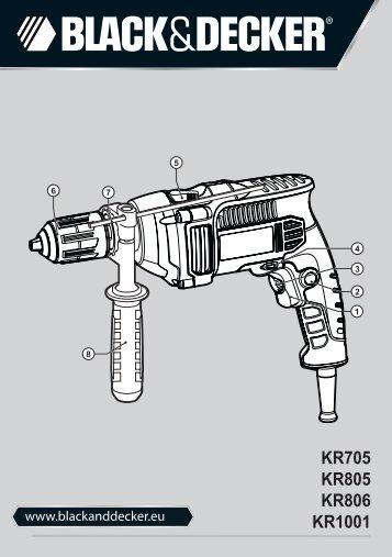 BlackandDecker Marteau Perforateur- Kr1001 - Type 1 - Instruction Manual (Européen Oriental)