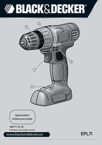 BlackandDecker Perceuse S/f- Epl7i - Type H1 - Instruction Manual (Tchèque)