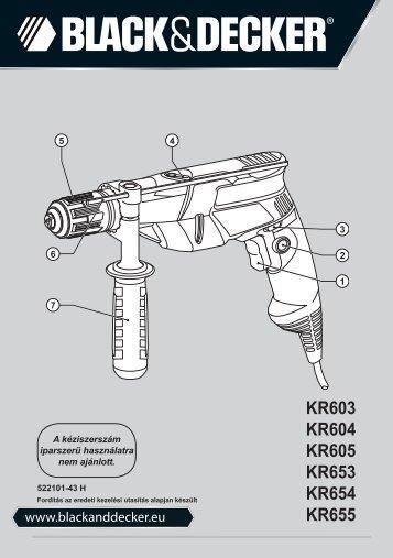 BlackandDecker Marteau Perforateur- Kr653 - Type 1 - Instruction Manual (la Hongrie)