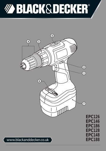 BlackandDecker Perceuse S/f- Epc128 - Type H1 - Instruction Manual (Anglaise)