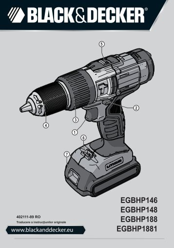 BlackandDecker Marteau Perforateur- Egbhp188 - Type H1 - Instruction Manual (Roumanie)