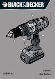 BlackandDecker Marteau Perforateur- Egbhp188 - Type H1 - Instruction Manual (Australie Nouvelle-Zélande)