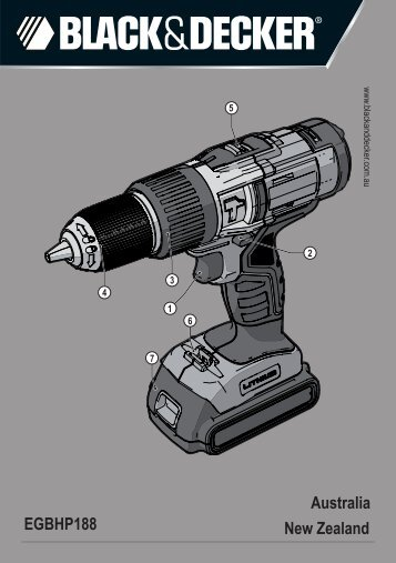 BlackandDecker Marteau Perforateur- Egbhp188 - Type H1 - Instruction Manual (Australie Nouvelle-Zélande)