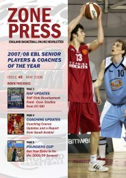 Zone press - England Basketball