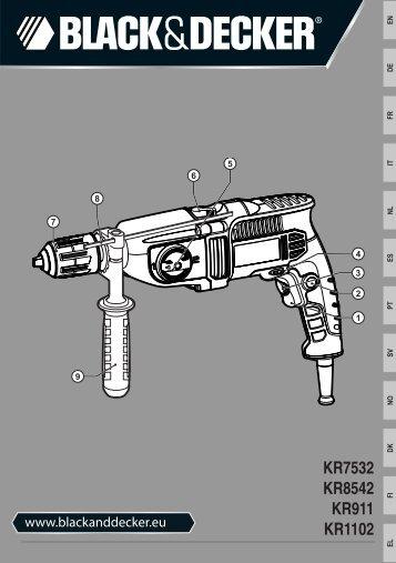 BlackandDecker Perceuse- Kr1102 - Type 1 - Instruction Manual (Européen)