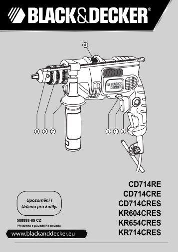 BlackandDecker Marteau Perforateur- Cd714re - Type 1 - Instruction Manual (Tchèque)