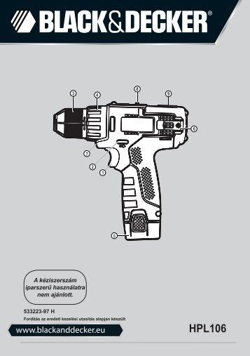 BlackandDecker Perc/vis/devis S/f- Hpl106 - Type H1 - Instruction Manual (la Hongrie)