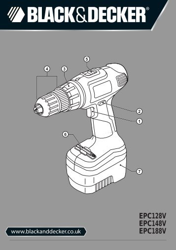 BlackandDecker Perceuse S/f- Epc148v - Type H1 - Instruction Manual (Anglaise)