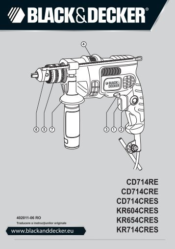 BlackandDecker Marteau Perforateur- Cd714re - Type 2 - Instruction Manual (Tige & piston)