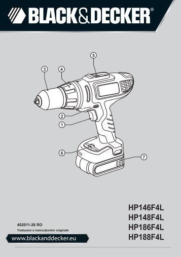 BlackandDecker Perceuse S/f- Hp186f4lbk - Type H2 - Instruction Manual (Roumanie)