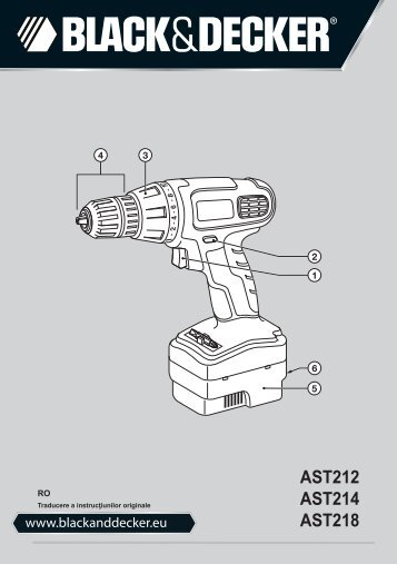 BlackandDecker Perceuse S/f- Ast218 - Type 1 - Instruction Manual (Roumanie)